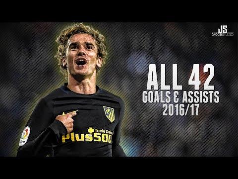 Antoine Griezmann ● All 42 Goals & Assists ● 16/17 HD