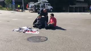 Protesters block traffic to protest Kent County's contact with ICE
