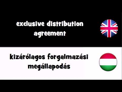 TRANSLATE IN 20 LANGUAGES = exclusive distribution agreement