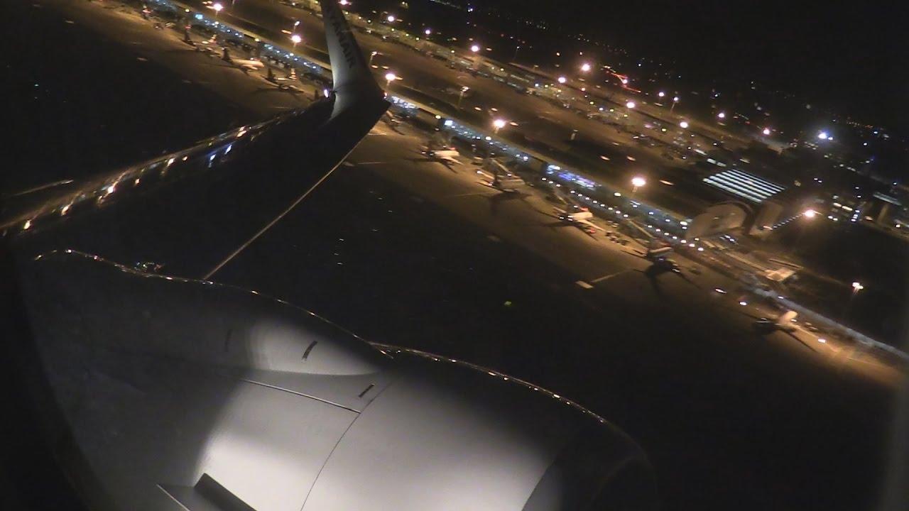 ᴴᴰ Window Seat B737 800 Night Takeoff Out Of Bru Youtube