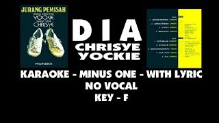 CHRISYE - DIA ( karaoke - minus one + lirik ) no vocal