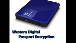 How to set-up Western Digital passport password encryption