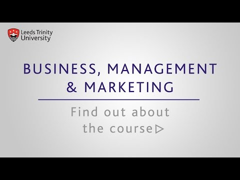 Leeds Trinity University: Business, Management and Marketing courses