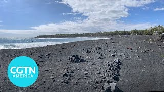 See the new beach that Kilauea's eruption created in Hawaii