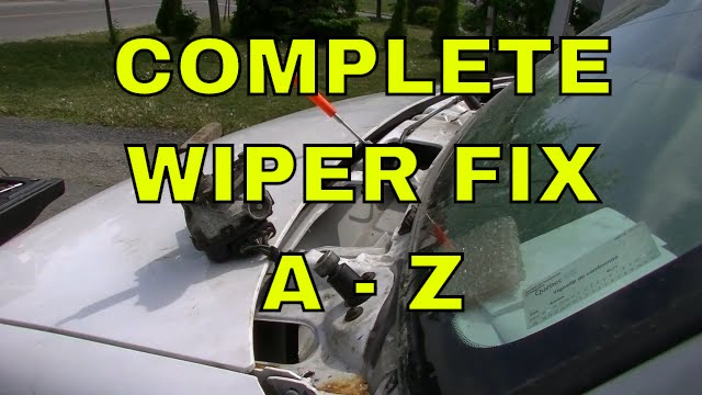 ford e-250 wiper linkage and motor fix and install