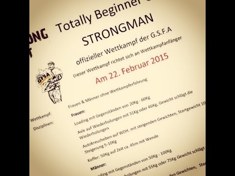 4.Totally Beginner CUP Strongman G.S.F.A.