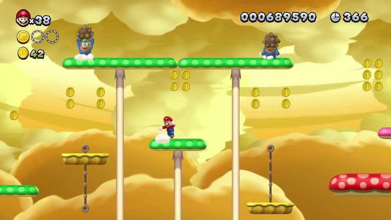 《新超級瑪利歐兄弟 U》2-5 流程影片 - YouTube