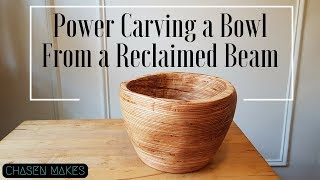 NO LATHE - Power Carved Bowl