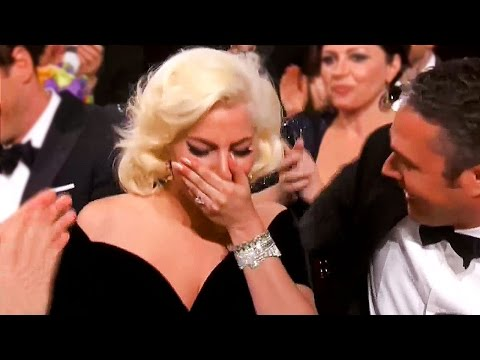 Lady Gaga CRIES, Gives Emotional Speech at Golden Globes 2016