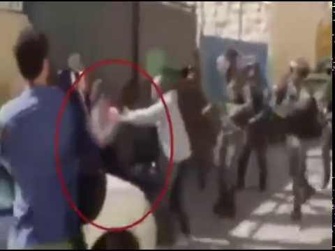 תיעוד: המחבל מתעמת עם שוטרים