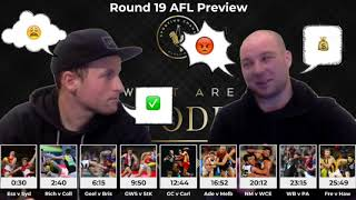 What Are The Odds?! Round 19 Preview