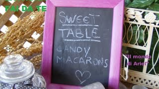 DIY LAVAGNA FAI DA TE,DIY BLACK BOARD ,IDEA FESTA,PARTY,RICICLO CREATIVO