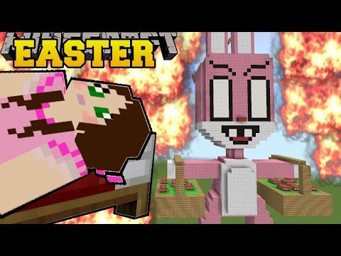 Minecraft: BURNING EASTER (EASTER BUNNY & EASTER EGGS!!) Mini-Game