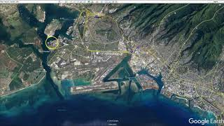 Pearl Harbor Attack Locations from Google Earth