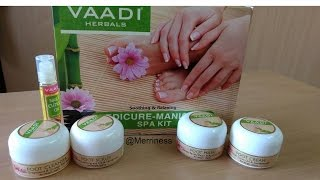 VAADI HERBALS (Pedicure - Manicure) Spa Kit | Review + DEMO |Mani Pedi at home | Merriness