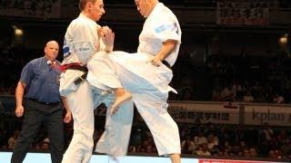 THE 10th WORLD KARATE CHAMPIONSHIP Men 2nd round Roman Kryvytskyi v...