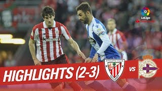 Resumen de Athletic Club vs RC Deportivo (2-3)