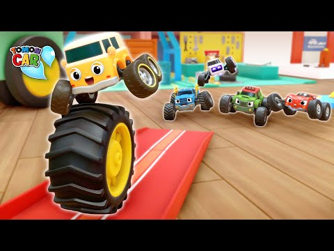 Avoid Rolling Tires Tomoncar! Learn Colors And Nursery Rhyme Kids Songs Tomoncar World