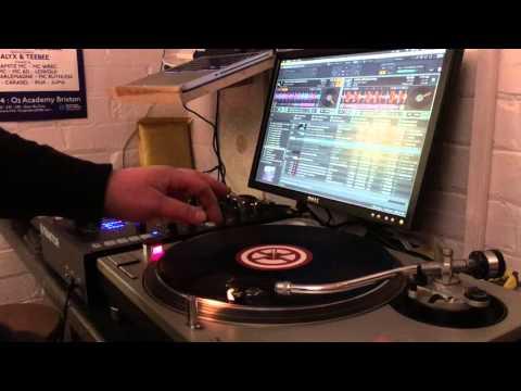 Drum N Bass Mix using Traktor mixer & software, Technics 1200