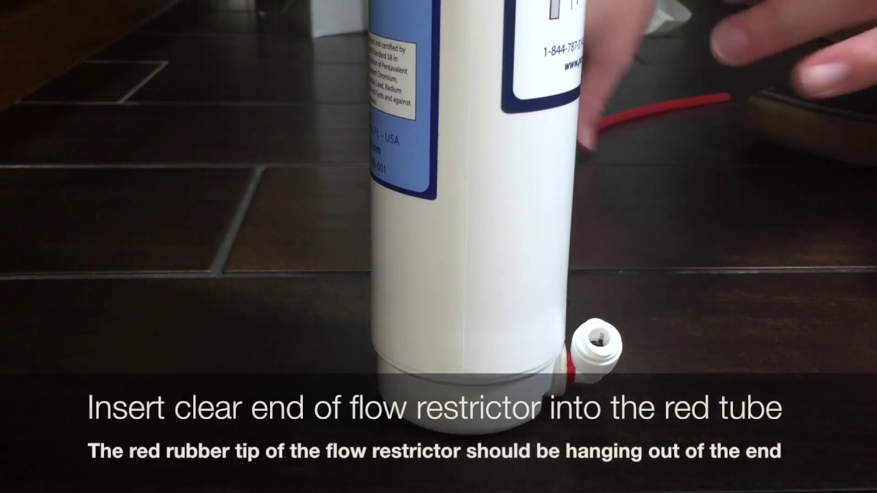 Flow Restrictor Installation (Pure Blue H2O 4 Stage RO System)