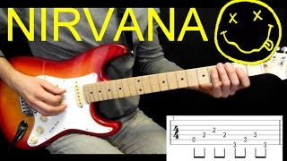 Как играть риф на гитаре Nirvana Heart Shaped Box УРОК