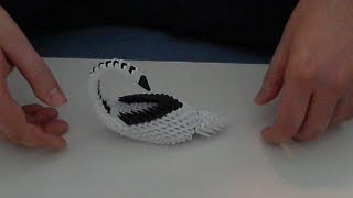 How To Make 3d Origami  Swan (model5)