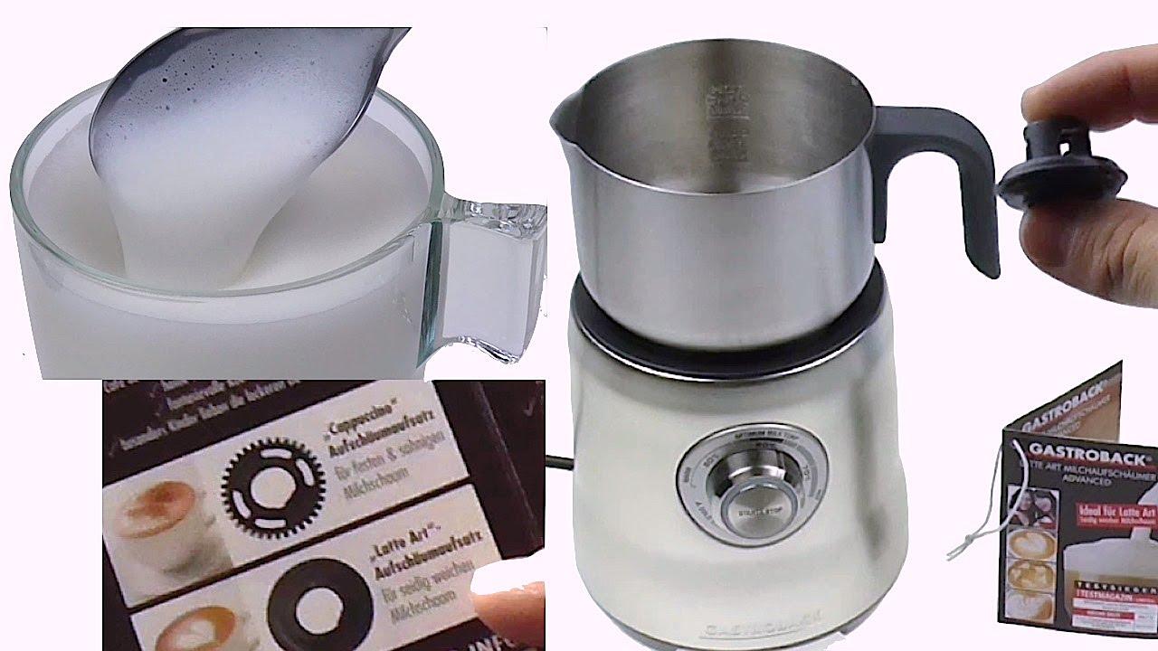 Heiße & cremige Milch | Gastroback Latte Art Milchaufschäumer ... | {Milchaufschäumer 69}