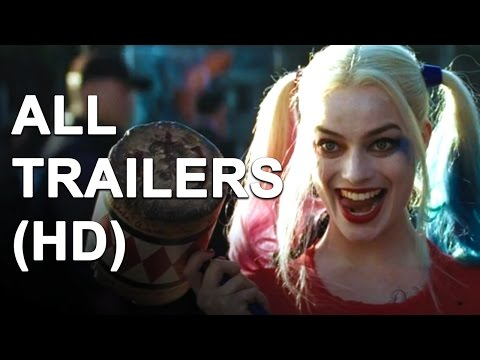 SUICIDE SQUAD - All Trailers (2016)