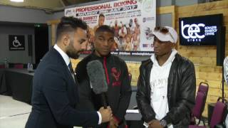 DENTON VASSELL AND TEAM OLIVER'S GYM; DISCUSS BIG NIGHT OF BOXING ON SATURDAY