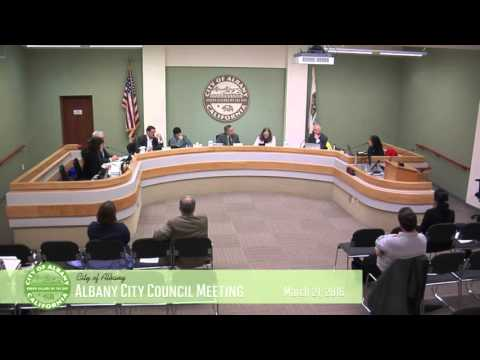 Albany City Council - Mar 21, 2016