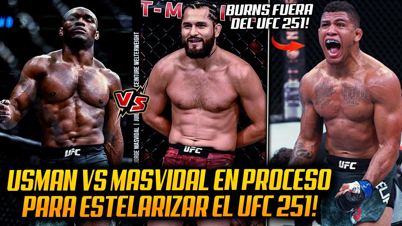 Kamaru Usman vs Jorge Masvidal en NEGOCIACIONES para el EVENTO PRINCIPAL del UFC 251