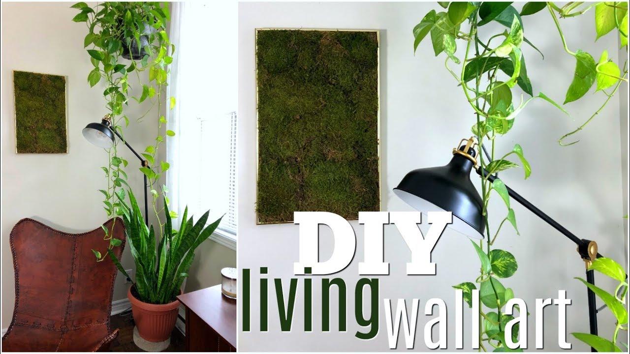 Diy Faux Living Moss Wall