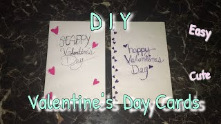 DIY Handmade Valentines Day Cards !!  LOVE Greeting Card !