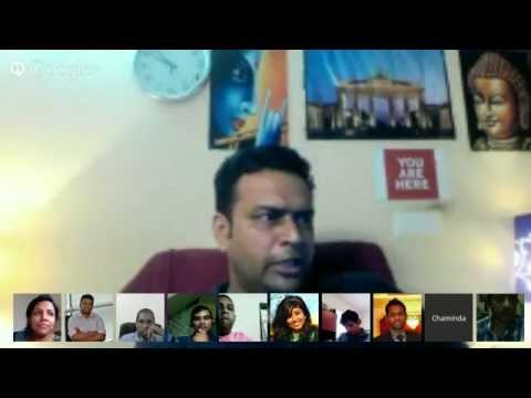 Talk on Digital Manufacturing for Sri Lanka on Google Hangout, May 2014