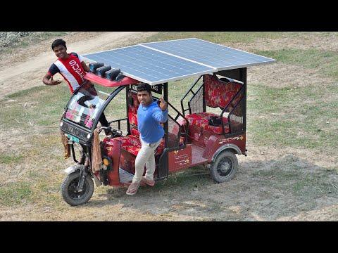 Unlimited Range E-Rickshaw using Solar Panel