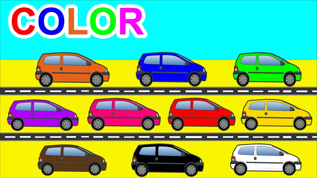 learn colors with cars transportation for kids children toddlers