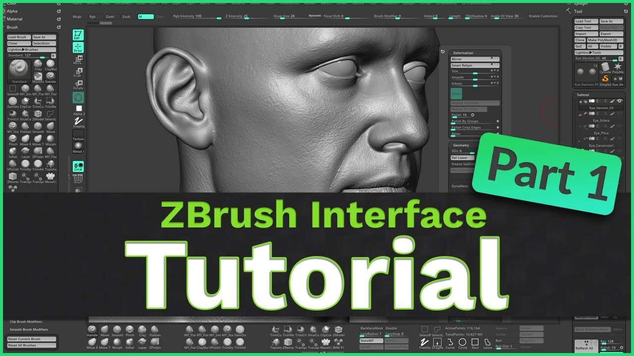 ZBrush User Interface Tutorial: Part 1 - YouTube