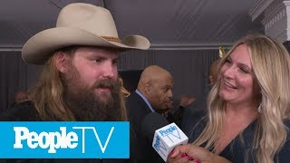 vuclip Chris Stapleton And Wife Morgane Open Up About Baby No. 5 | Grammys 2019 | PeopleTV