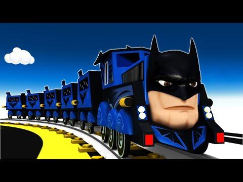 Super Hero Train Cartoon For Kids | Toy Factory Trains For Children - Choo Choo Cartoon Train
