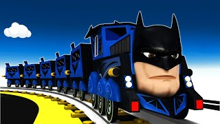 Super Hero Train Cartoon for Kids | Toy Factory Trains for Children - Choo Choo Cartoon Train