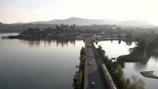 SWISSVIEW - SZ, SG, Seedamm Zürichsee - Rapperswil thumbnail