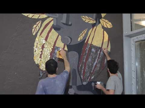 "Mural fot ""Cocoa Room"" restaurant, Kuwait"