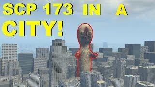 GIANT SCP-173 IN CITY! - Garry's mod Sandbox