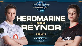 HeRoMaRinE vs Reynor TvZ - Group C Winners - 2019 WCS Global Finals - StarCraft II