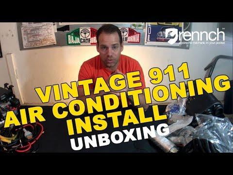 Vintage Porsche 911 Air Conditioning Install – Unboxing Classic Retrofit Electrocooler – DIY