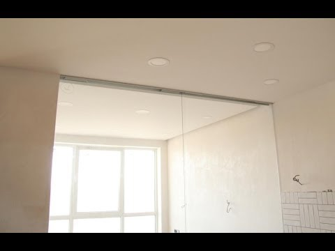 Раздвижные межкомнатные перегородки из стекла. Стеклянные двери из закаленного стекла с доводчиком.