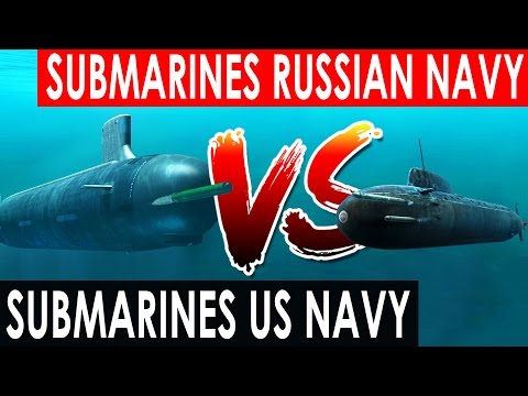 Submarines US Navy vs  Submarines Russian Navy 2016 (Top submarine)