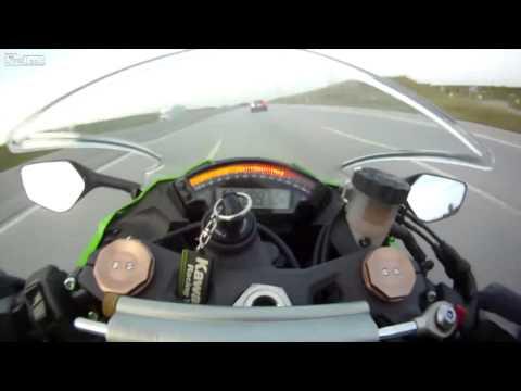 Audi RS6 vs. Bike 300 km/h + auf Autobahn