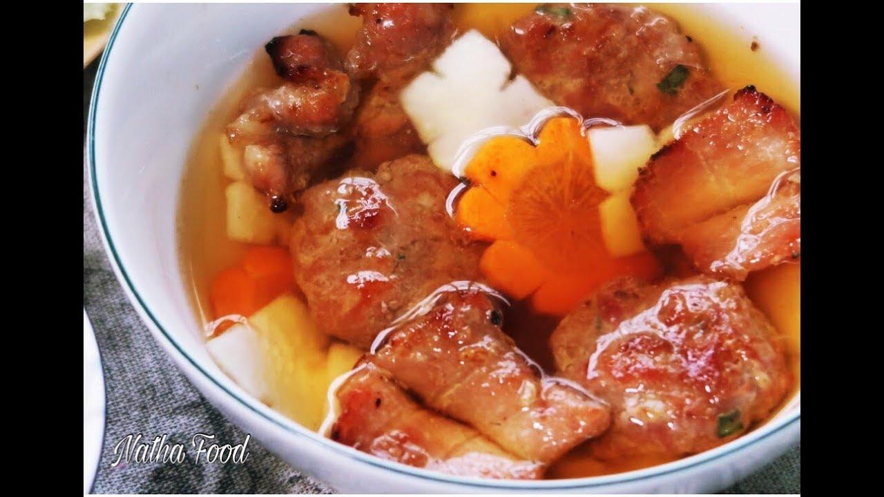 Bún Chả Hà Nội chuẩn vị , chả thịt nướng thơm lừng ăn với nước mắm đúng vị || Natha Food