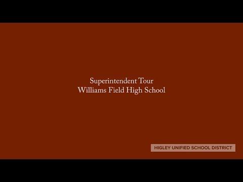 Superintendent Tour Williams Field High School